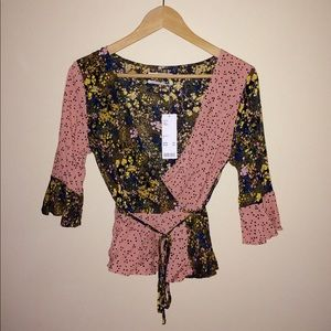 BNWT Urban Outfitters Wrap Shirt Size S